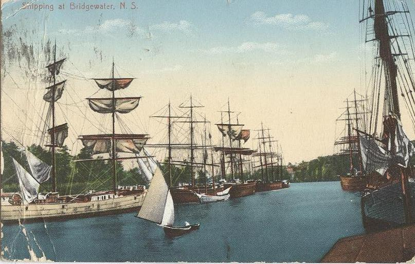 85.34.18 DBP283 PC Shipping at Bridgewater lots schooners 1906