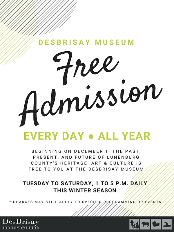 DesBrisay FREE ADMISSION small