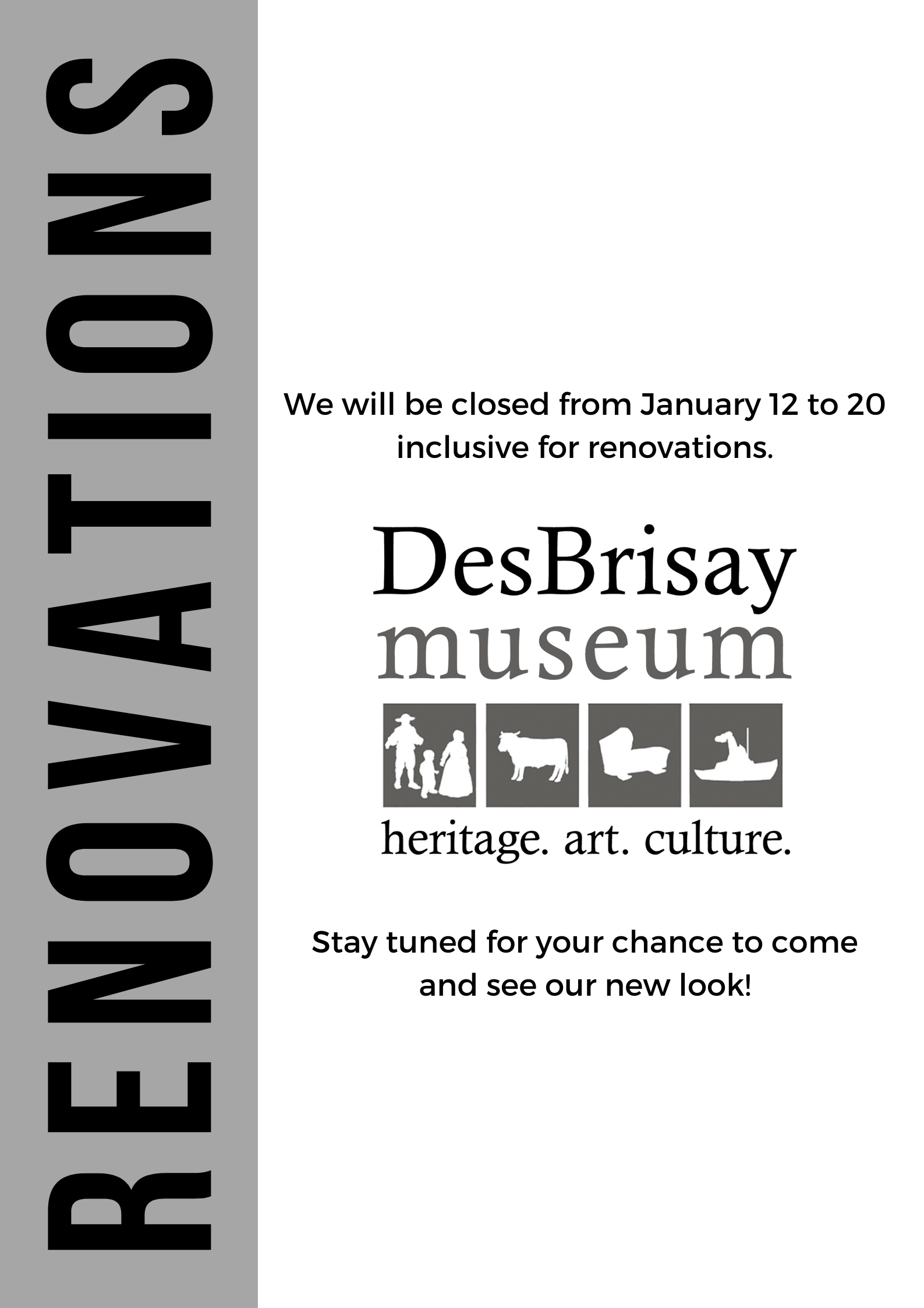 DesBrisay Museum Renovation Notice 2020
