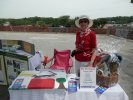 Karen selling tickets at Canada Day